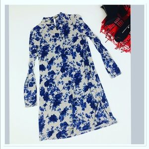 Kensie long sleeve mock neck floral dress